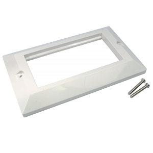 Quad 4 Port Faceplate Frame for Euromod Wall Plate Modules