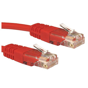 1m Ethernet Cable CAT5e Full Copper Red