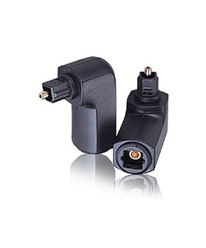 Right Angle TOSLink Optical Adapter 90 Degree
