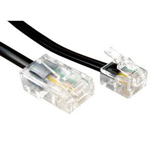 1m RJ11 to RJ45 Modem Cable Black