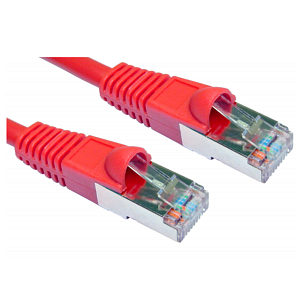 RJ45 Patch Lead Shielded CAT5e 0.5m Red