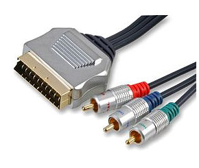 Scart to Component Cable 3m