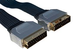 5m Flat Cable Scart to Scart Lead