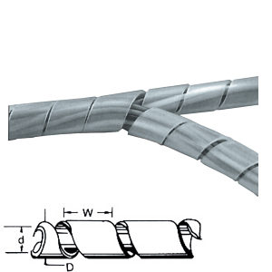 Spiral Cable Tidy 12-70mm Clear Frosted