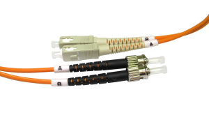 2m Fibre Optic Cable ST-SC orange 50/125 OM2