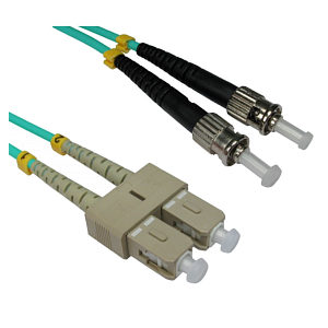 ST -SC 50/125 OM3 Fibre Optic Patch Cable 1m