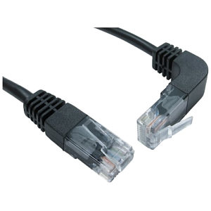 Straight to Right Angle Network Cable Up 0.5m