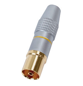 TV Aerial Socket HQ Gold Plated Connector Metal Body