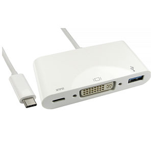 USB Type C to DVI and USB with Power Delivery
