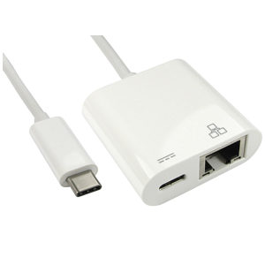 USB Type C to Ethernet Adapter with Power Delivery