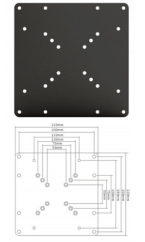 200mm x 200mm Adapter Plate Vesa 200