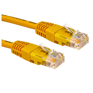 15m Ethernet Cable CAT5e Full Copper Yellow