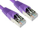 CAT6A Ethernet Cable 0.25m Violet - Full Copper Shielded FTP