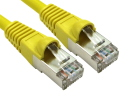 CAT6A Ethernet Cable 0.25m Yellow - Full Copper Shielded FTP
