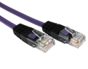 1m CAT5e Crossover Network Cable Full Copper violet