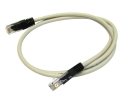 10m CAT5e Crossover Network Cable Full Copper grey
